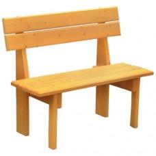 Деревянная скамейка Гранд, для бани со спинкой
