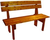 Большая покрашенная скамейка
